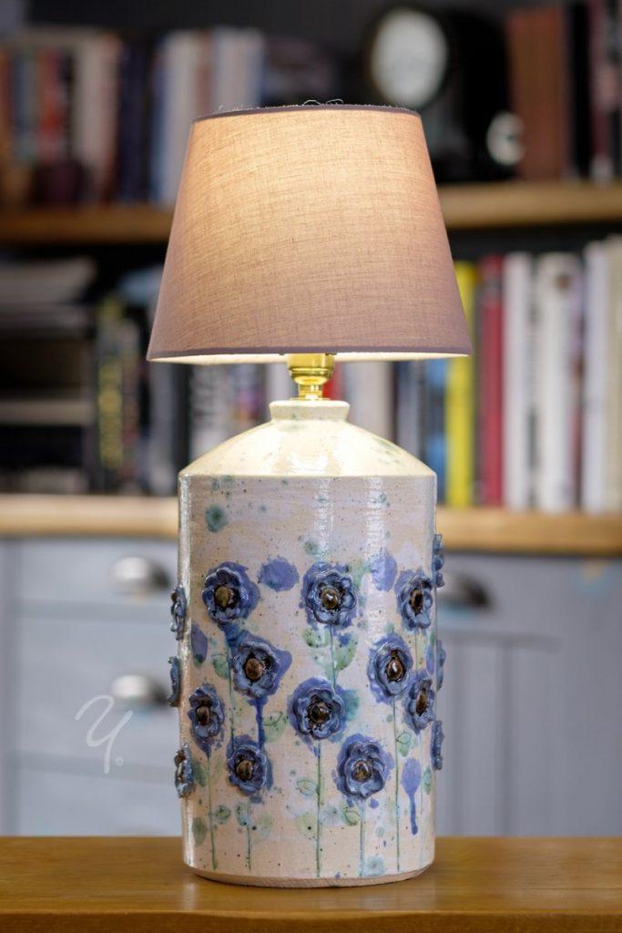 Blue flowers Lamp